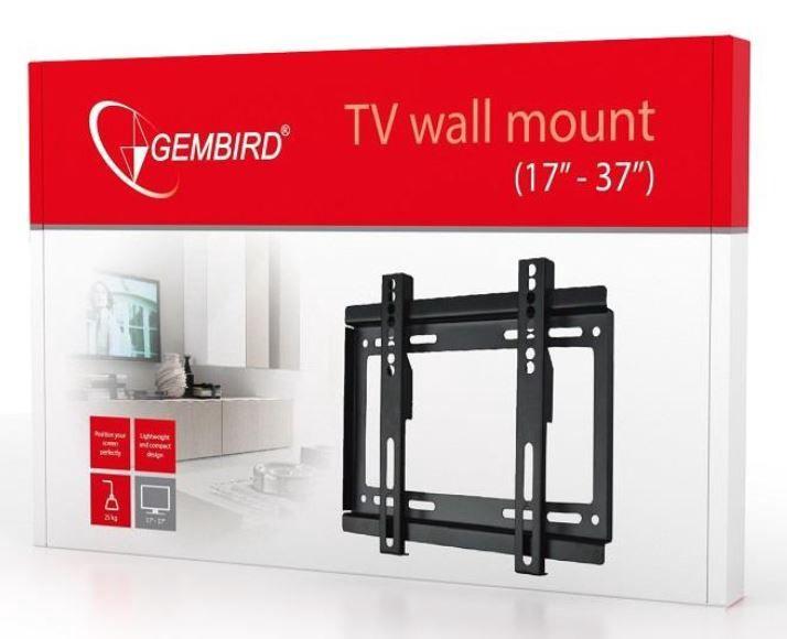 """Televizoriaus laikiklis Gembird Wall Mount For LCD TV / LED 17 - 37"""" Black"""