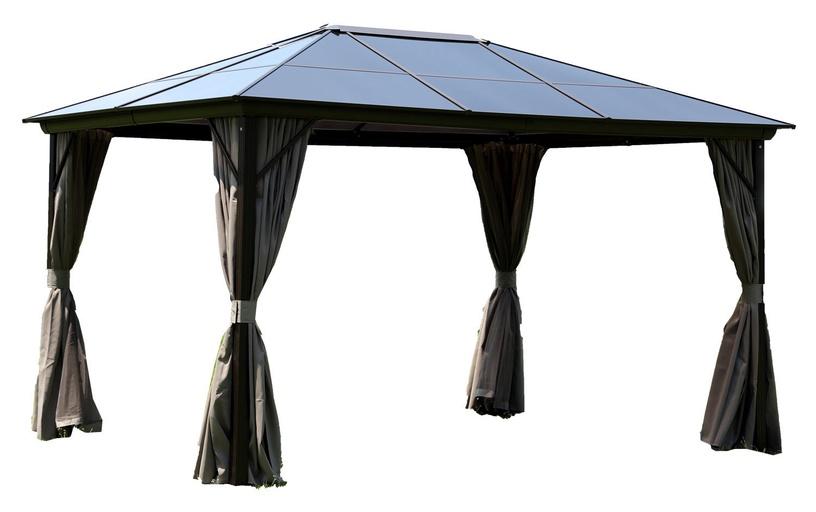 Home4you Sunset Gazebo w/ Plastic Roof 3x4m Brown