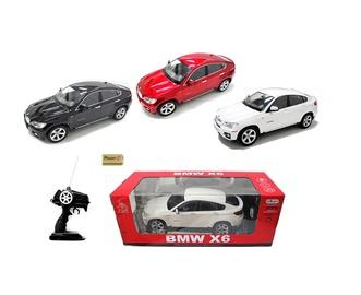 Žaislinė mašina BMW X6, geltona, balta, juoda
