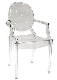 Ēdamistabas krēsls Verners Nancy 557544 Transparent, 1 gab.