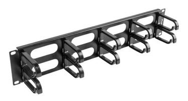 Lanberg 19'' Cable Management 2U Black