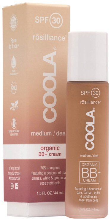BB sejas krēms Coola Rosilliance Organic BB+ SPF30 Medium Dark, 44 ml