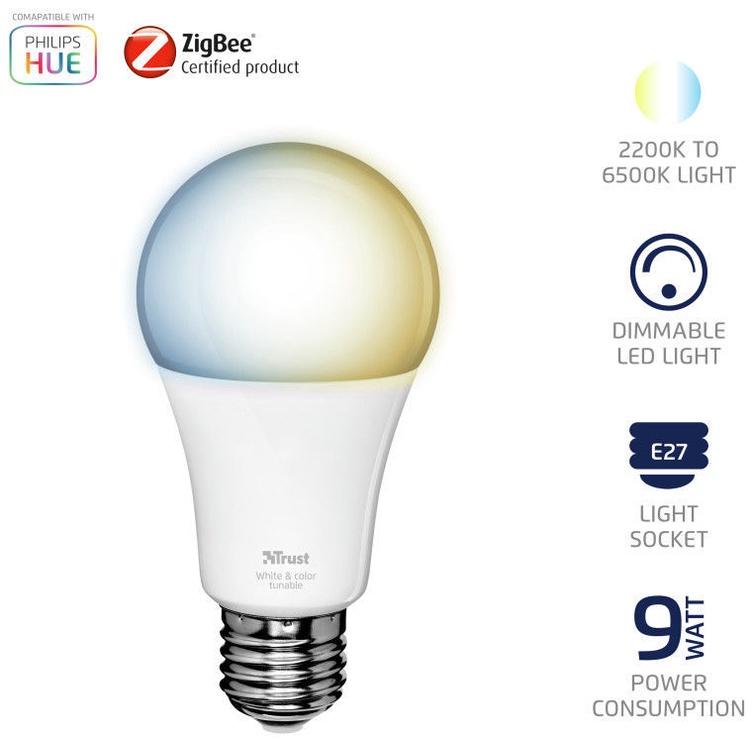 Trust 71156 Zigbee LED Bulb ZLED-TUNE9 E27 9W 806lm