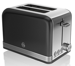 Swan 2 Slice Retro Toaster ST19010BN Black