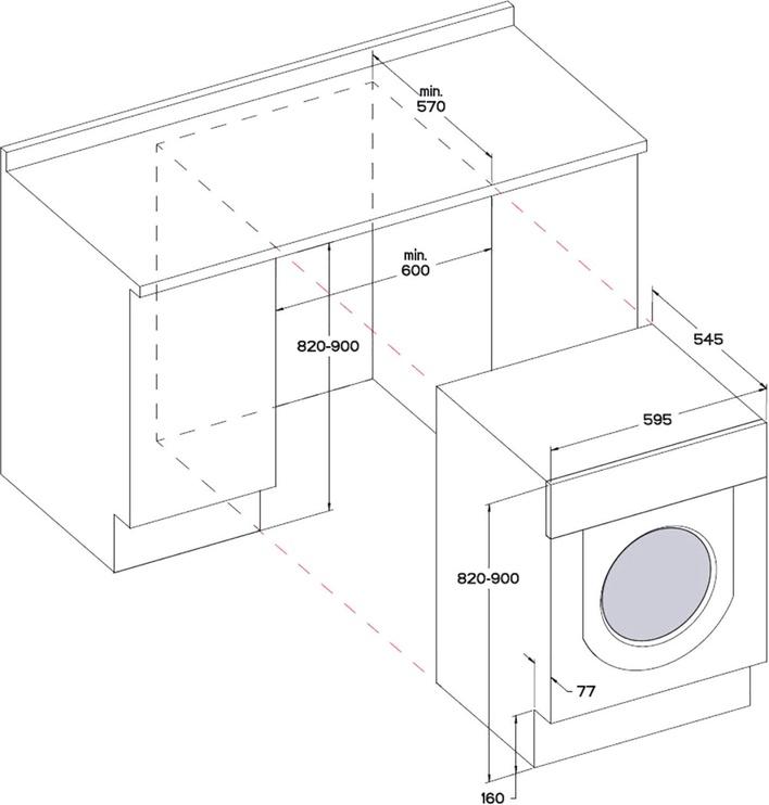Iebūvējama veļas mašīna Whirlpool BI WMWG 71484E EU