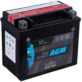 Аккумулятор IntAct YTX12-BS, 12 В, 10 Ач, 130 а