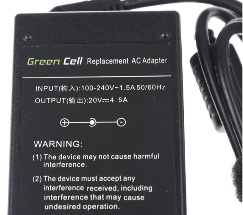Green Cell Laptop Power Adapter 65W 3.42A 20CV