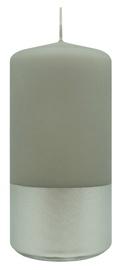 Diana Candles Pillar Candle Light Grey/Silver 5.8x15cm