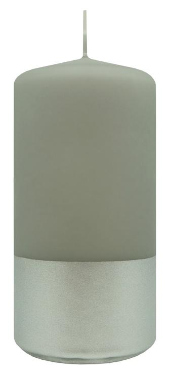 Свеча Diana Candles Pillar Candle Light Grey/Silver 5.8x15cm