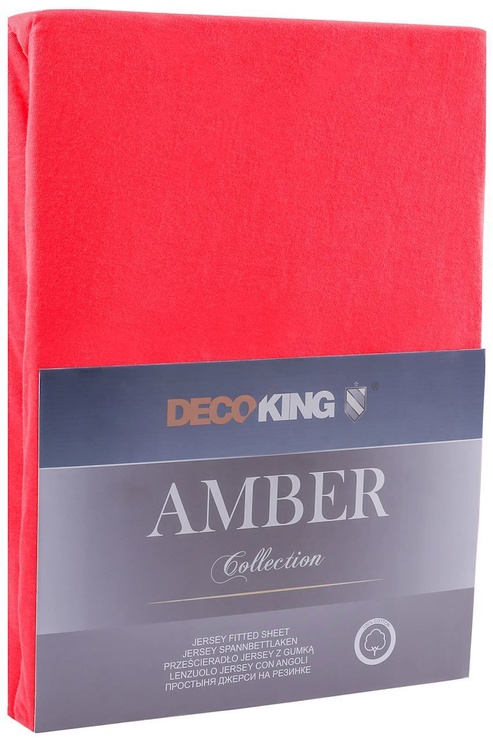 Palags DecoKing Amber Red, 220x200 cm, ar gumiju