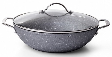 Fissman Moon Stone Wok Pan With Glass Lid 28x8cm
