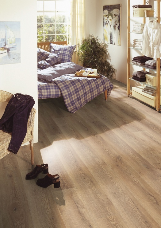 Laminuotos medienos plaušų grindys Kronotex D4725, 1845 x 244 x 10 mm