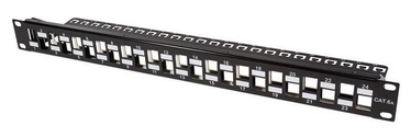 Intellinet Patch Panel 19'' CAT6a 24-Port Black