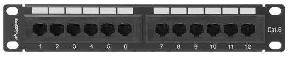 Lanberg PPU6-9012-B 12 Port Panel