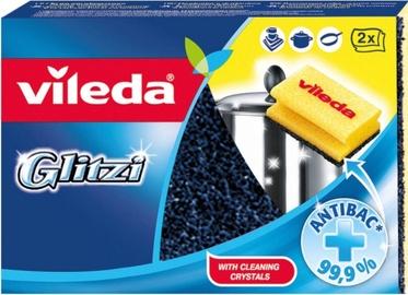Vileda Glitzi Crystal Scouring Foam Sponge Set 2+1 146643