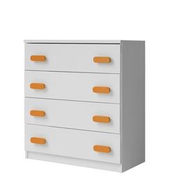 Idzczak Meblee Smyk 02 4S Chest Of Drawers White/Orange