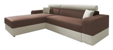 Stūra dīvāns Idzczak Meble Infinity Lux Brown/Beige, kreisais, 184 x 184 x 95 cm