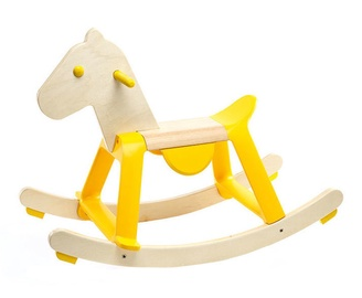 Djeco Preschool Toys Yellow Rock It Horse