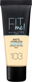 Крем пудра Maybelline Fit Me! Matte + Poreless 103 Pure Ivory, 30 мл