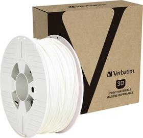 Расходные материалы для 3D принтера Verbatim PLA Filament RAL 9003, 126 м, белый