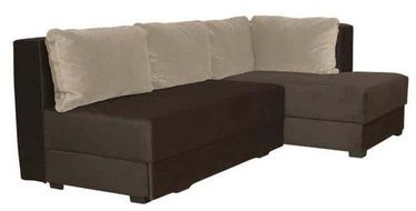 Bodzio Corner Sofa Judyta Velor Right Brown/Beige