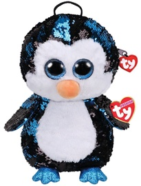 TY Fashion Plush Sequin Backpack Waddles Penguin