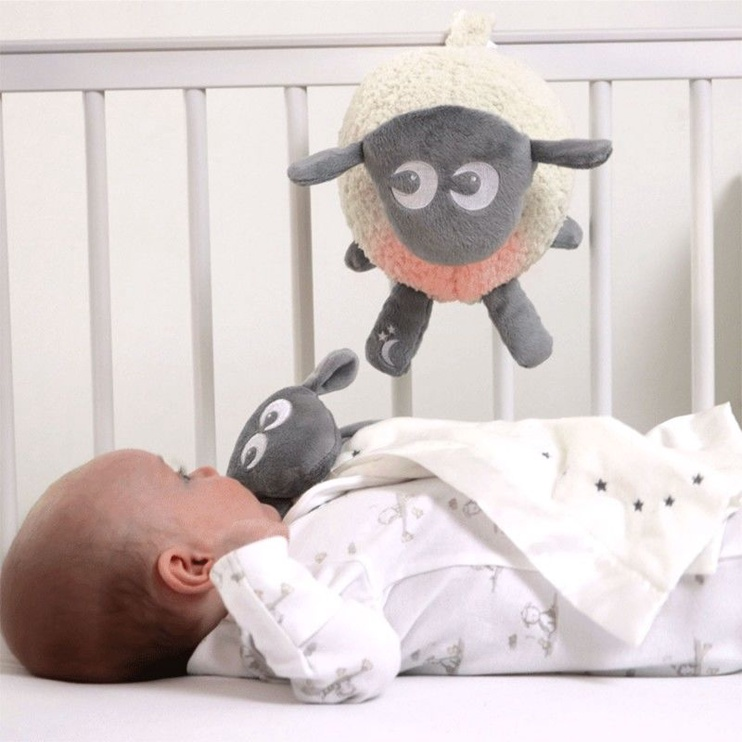 Sweet Dreamers Ewan Deluxe Baby Shushing Sleep Sheep Grey