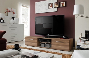 TV galds ASM Bono II Plum, brūna, 1800x450x350 mm