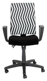 Black Red White Proxima Cross Swivel Chair Black