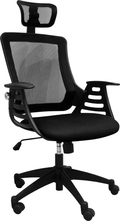 Home4you Office Chair Merano Black With Headrest 27714