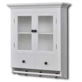 Кухонный шкаф VLX Wooden With Glass Door, белый, 590 мм x 225 мм x 740 мм