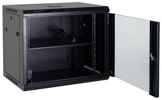 Netrack Wall Cabinet 19'' 12U/600mm Glass Grey