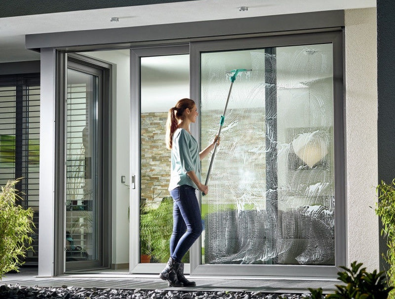 Leifheit Window Slider XL Cleaning Tool With Telescopic Handle 40cm