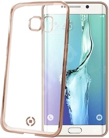 Celly Laser Back Cover For Samsung Galaxy S6 Edge Plus Transparent/Gold