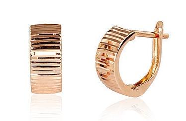 Diamond Sky 14K Rose Gold Earrings Rhodes IV Solid Gold 585