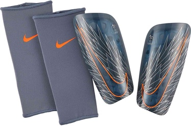 Nike Mercurial Lite Shin Guards SP2120 490 Grey Orange XL