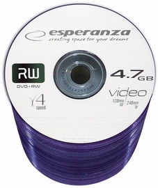 Esperanza 1021 DVD+RW 4x 4.7GB Spindle 100 DVD's