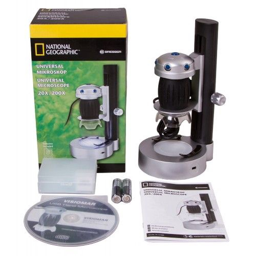 Bresser National Geographics Universal And Digital Microscope 20x-200x