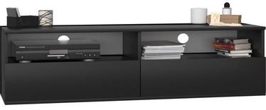 TV galds Top E Shop, melna, 1380x400x380 mm
