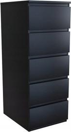 Komoda Top E Shop W5 5 Drawers Black
