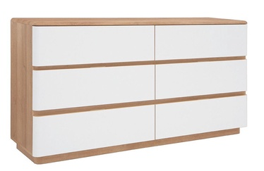 Black Red White Braga Chest Of Drawer White/Oak