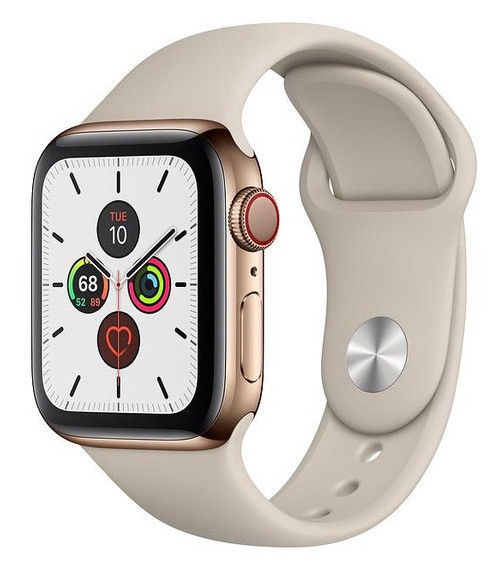 Apple Watch Series 5 40mm GPS Gold Stainless Steel Case with Stone Band Cellular