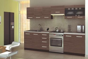 Virtuvinių spintelių komplektas Amanda 1 260, ruda