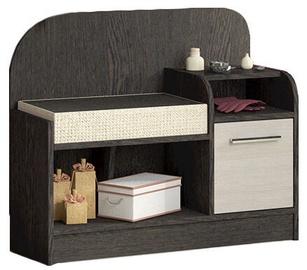 MN Art T1 Shoe Cabinet Belfort Oak/Wenge Tsavo