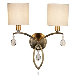 Lampa sienas Searchlight Alberto 1602-2AB, 2X40W, E14