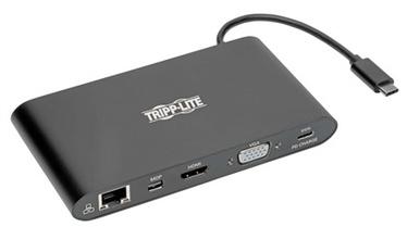 Aksessuaarid Tripp Lite U442-DOCK1-B, USB Type C / HDMI / VGA / Ethernet LAN (RJ-45) / Mini DisplayPort / Micro SD
