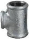"""STP Fittings Cast Iron Reducing 3-Way Connector Zinc 2""""x3/4"""""""