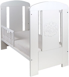 Drewex Cortona Bear Comfort Bed With Drop Side And Drawer White