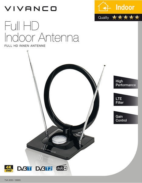 Vivanco Full HD Indoor Antenna TVA3050