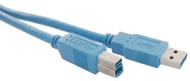 Qoltec Printer Cable USB to USB Blue 1m